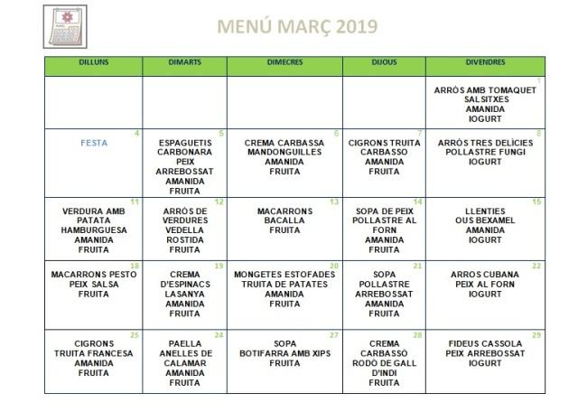 menú març normal