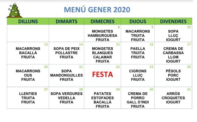 menu gener