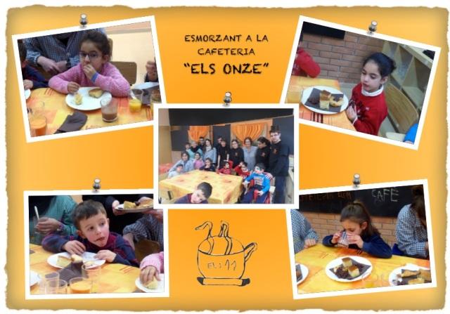 infantil esmorzant a la cafeteria