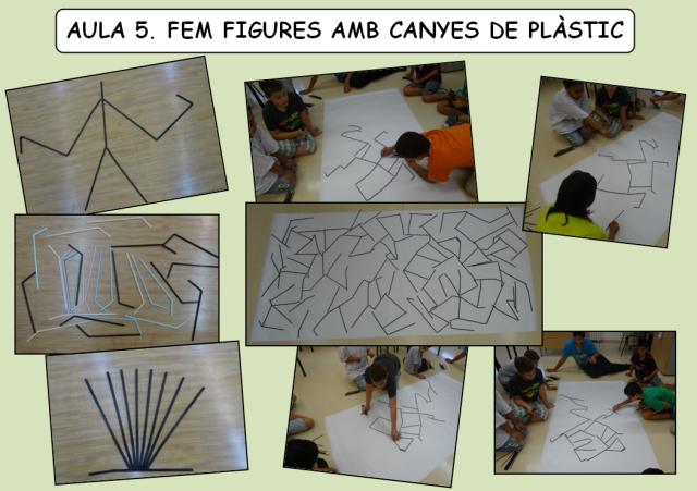 aula 5 canyes de plàstic