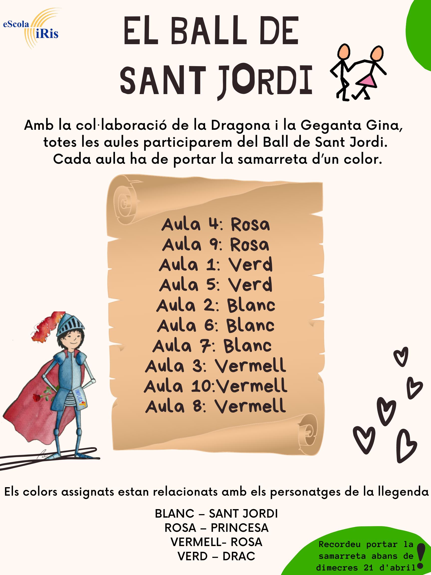 SAMARRETA BALL DE SANT JORDI